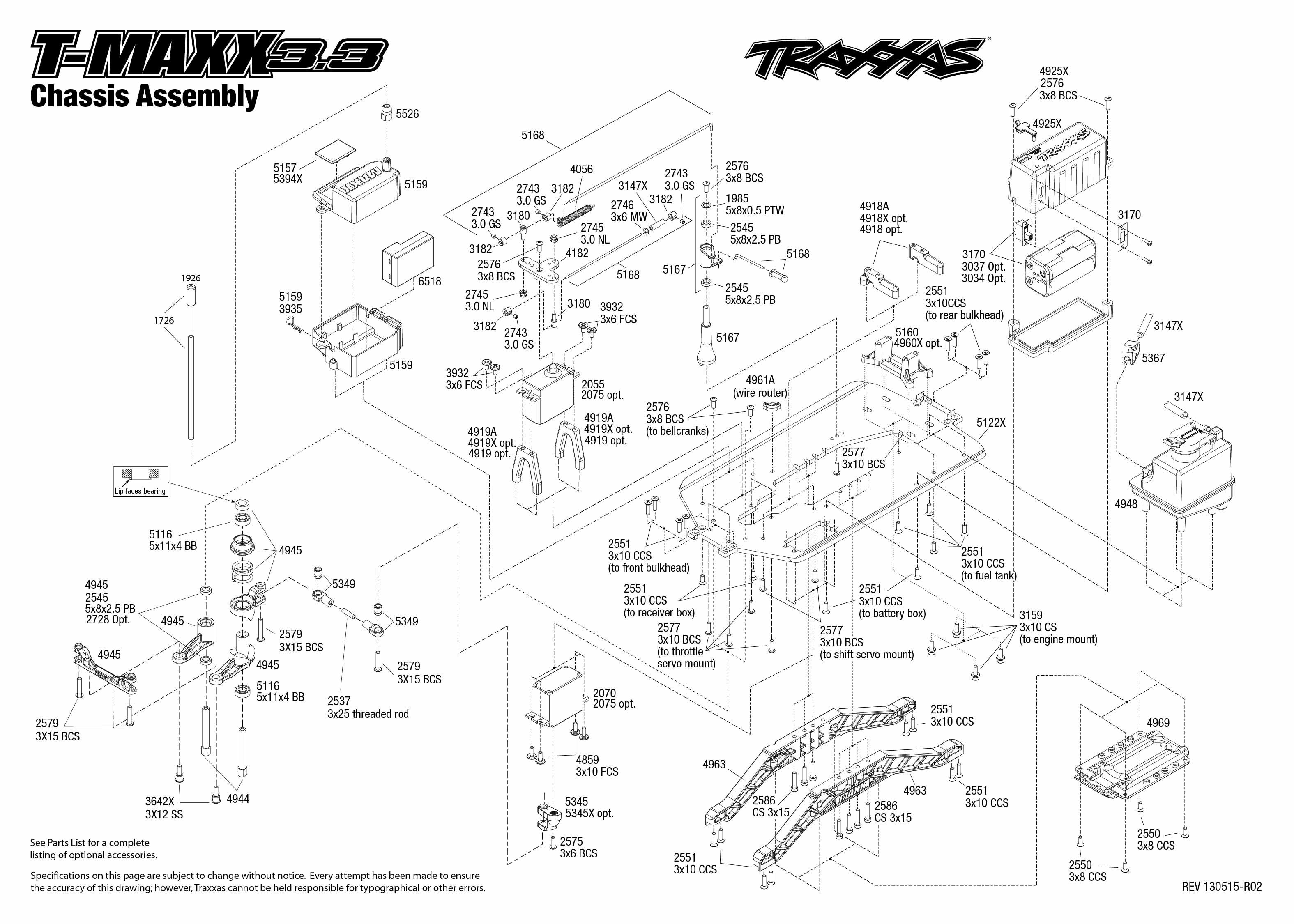 traxxas revo 2 5 transmission diagram auto parts diagrams