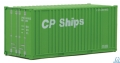 WAL949-8010 - WALTHERS 20 'Container w / Flat Panel - Montado - CP SHIPS (green, white)