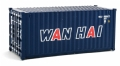 "WAL949-8066 - Walthers CONTAINER 20"" CORRUGATED HO WAN HAI"