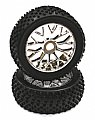 INT-C23393CH - INTEGY RODA MONTADA 1/8 Buggy 20 Spoke-Y 17mm Wheel+Pattern X Tire Set (2)
