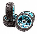 INT-C23479B - INTEGY RODA + PNEU 5 Spoke Complete Wheel & Tire Set (4) Wide Offset for 1/10 Touring Car