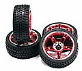 INT-C23479R - INETGY RODA + PNEU 5 Spoke Complete Wheel & Tire Set (4) Wide Offset for 1/10 Touring Car