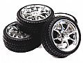 INT-C23441S - INETGY RODA + PNEU 8 Spoke Complete Wheel & Tire Set (4) for 1/10 Touring Car
