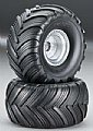 TRAX3665 - Traxxas RODA MONTADA Tires/Wheels Assem Glued Front Monster Jam (2)