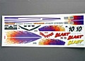 TRAX3814 - TRAXXAS Blast decal set BLAST (B)