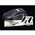 TRAX7312 - Traxxas 7312 Body, 1/16 Ford Fiesta Clear with Decals
