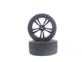 HIM31309B - HIMOTO RODA MONTADA DIANTEIRA Black Buggy Front Tires and Rims (31211B+31307) 2P