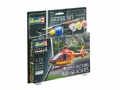 REV64986 - Revell Germany Kit p/ montar Model Set Airbus Helicopter EC135 Air-Glaciers - 1/72