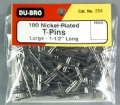 "DUBR254 - Dubro T-Pins 1-1/2"" (100)"