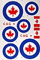 MAJQ2095 - Major Decals 600P decalque Canadian .60