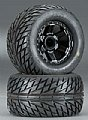 "PRO1181-11 - Pro-Line RODA MONTADA Street Fighter 2.8"" Street Tires Mounted Front"