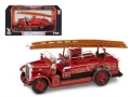 YM43009 - YAT MING miniatura de metal 1934 LEYLAND FK-1 RED FIRE ENGINE 1/43 ROAD SIGNATURE