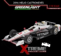 GREE-2016-HCN - Greenlight Miniatura Fórmula Indy 1:18 2016 Helio Castroneves #3 HITACHI IZOD INDY 500 RACE CAR (10978)