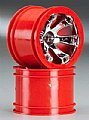 TRAX7271 - Traxxas RODAS Geode 2.2 Wheel Red Chrome 1/16 Summit (2)