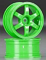 TRAX7374A - Traxxas RODAS TE37 Volk Racing Wheels Green 1/16 (2)