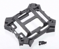TRAX6624 - Traxxas Main Frame Lower/Screws Black Alias
