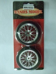 NAND RACING RODA MONTADA 1/10 Drifter/ chrome Y-spoke glu