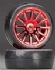 TRAX7573R - Traxxas Tires/Wheels Assembled/Glued 12-Spoke Red (2)